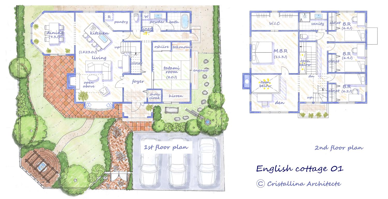 english cottage plan 01
